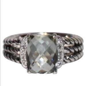 David Yurman Wheaton Petite Prasiolite and diamond